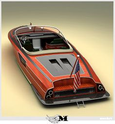 MotArt: Mustang wooden Speed boat