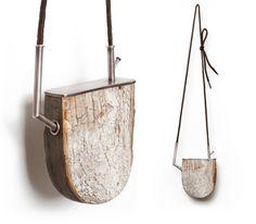 Joshua Kosker : boot heel, found wood, sterling silver, shoe lace