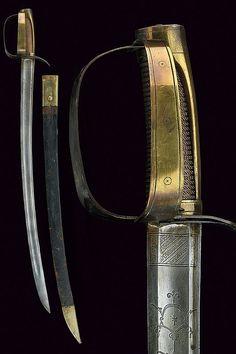A revolutionary sabre with folding hilt, France, ca. 18th century.
