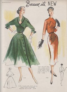 Good Morning! For those of you who are sick and tired of vintage fashions, you are in luck as I have only one more week's worth of Mode...