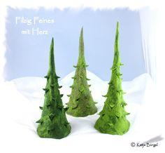 Große Filztannen, Tanne gefilzt, Tannenbaum Filz von Filzallerlei - Filzig Feines mit Herz auf DaWanda.com