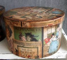2012-2013 Ahşap Boyama Sezonuna Hoş Geldiniz... Tv Trays, Sewing Box, Vintage Wood, Box Art, Shadow Box, Coffee Cans, Tins, Decoupage, Decorative Boxes