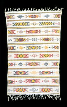 Africa | Akwete cloth from the Ikaki people of Nigeria | Cotton | ca 1930s