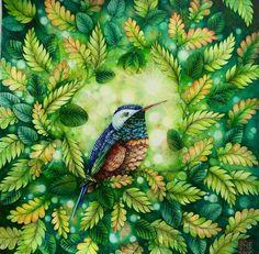 Inspirational Coloring Pages by @cherrycolours #inspiração #coloringbooks #livrosdecolorir #jardimsecreto #secretgarden   #adultcoloring #bird
