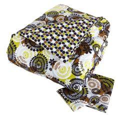 Vera Bradley Reversible Comforter in Cocoa Moss