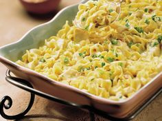 We really like chicken with this creamy pasta, but the curry flavor also blends well with tuna.