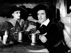 John Gilbert and Greta Garbo in a scene from Queen Christina, 1933