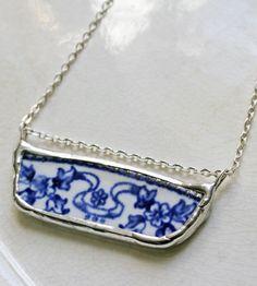 Vintage Garland Ceramic Necklace