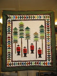 R.C.M.P. wall hanging Quilting Tips, Quilting Projects, Quilting Designs, Sewing Projects, Canadian Quilts, Quilts Canada, Quilt Of Valor, Quilted Wall Hangings, Barn Quilts