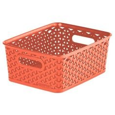 $5 Y Weave Small Storage Bin - Coral - Room Essentials™
