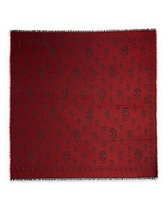 Alexander McQueen Skull Scarf - Lacquer - Size No Size