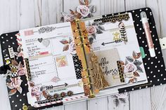 My Prima Planner spread using In The Moment planner and new Rose Quartz collection #planners #planneraddicts #rosegold
