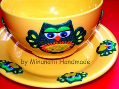 Owl, Ceramics, Facebook, Tableware, Handmade, Fimo, Ceramica, Pottery, Dinnerware
