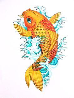 28 Mejores Imágenes De Tatuaje Pez Koi Koi Fish Tattoo Awesome
