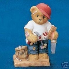 Cherished Teddies Woody - NIB - HANDYMAN BEAR
