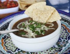 Black Bean Soup | Our Best Bites (I would sub chicken or veggie broth for the beef)