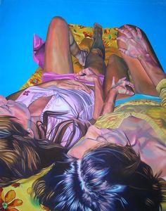 Zingarelli Laura EVA CONTRO EVA acrilico su tela 130x100cm