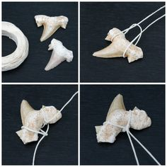 Necklace Shark Tooth Necklace Tutorial - Know someone who loves sharks? Then you'll love this Shark Tooth Necklace Tutorial! It's so easy you'll have time to make more than one. Wire Wrapped Jewelry, Wire Jewelry, Jewelry Crafts, Jewelry Necklaces, Jewellery Box, Jewellery Shops, Jewelry Stores, Tooth Jewelry, Jewelry Knots
