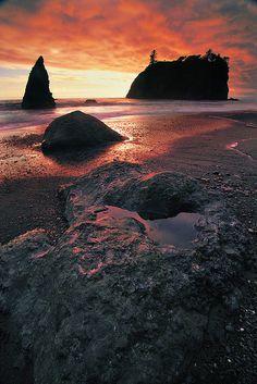 La Push Beach in Washington state.