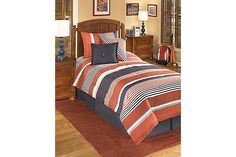 The Manning Twin Comforter Set from Ashley Furniture HomeStore (AFHS.com).