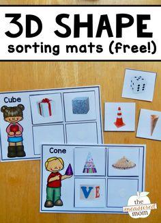 Free 3D Shape sorting mats