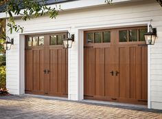 Follow this link of see the top 15 Clopay garage door images saved on Houzz. Model shown: Clopay Canyon Ridge Collection faux wood carriage house garage doors, Design 13. www.clopaydoor.com