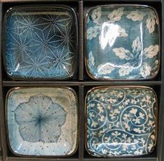 wasbella102:  Japanese Dishes - Blue Garden Dish Set