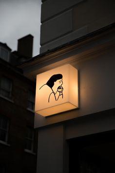 Mini Bao, Fitzrovia - The Londoner Scenery Wallpaper, Aesthetic Pastel Wallpaper, Aesthetic Wallpapers, Dark Wallpaper, Wayfinding Signage, Signage Design, Cafe Signage, Retail Signage, Banner Design