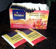 Meßmer Tee Ägyptischer Amun mit Granatapfel-Honig. Meßmer Tee Ägyptischer Amun: Dieser Tee hat das Aroma von Granatapfel und Honig, der schon beim Aufbrühen sehr intensiv zu riechen ist. Zusätzlich...