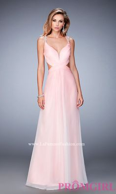 Long La Femme Ombre Prom Dress with Side Cut Outs Style: LF-22416