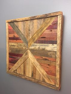 Reclaimed Wood Wall Art by DHindustrial on Etsy