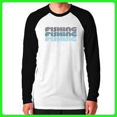 Teeburon Fishing RETRO COLOR Raglan Long Sleeve T-Shirt - Retro shirts (*Amazon Partner-Link)
