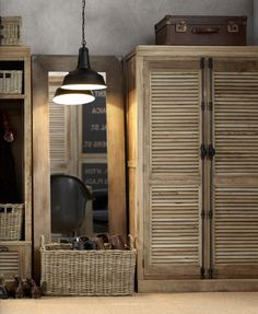 eMagazine Publication-gorgeous shutter door cabinet to store linens, china, etc