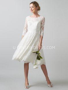 60 best wedding dress under 200 images on pinterest wedding gowns us11029 scoop tea length 3 4 sleeve appliqued lace wedding dress junglespirit Choice Image