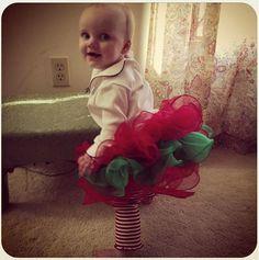 christmas tutu skirt - tights and tutu