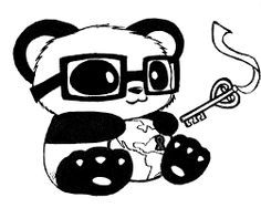 Dibujo de Panda enamorado para Colorear  Kawaii  Pinterest