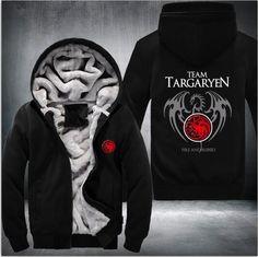 Game Of Thrones House Of Targaryen Super Warm Thick Fleece USA Size