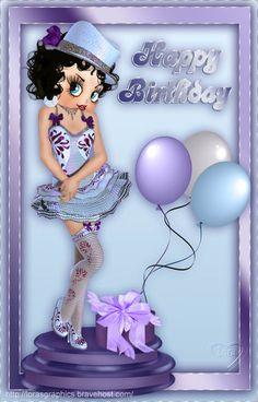 betty boop birthday card