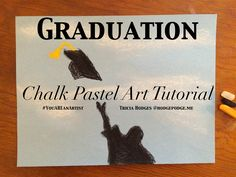 A fun, celebratory graduation chalk pastel art tutorial for all ages. Make your cap and tassel any color you'd like and congratulations! You ARE an artist!