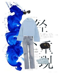 """""""All blue"""" by teaangelika on Polyvore featuring Jil Sander, RE/DONE and Gucci"""