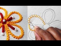 Like to learn and show how to make beautiful hand embroidery design. Hand Embroidery Flower Designs, Basic Embroidery Stitches, Hand Embroidery Videos, Hand Embroidery Tutorial, Hardanger Embroidery, Creative Embroidery, Hand Embroidery Patterns, Ribbon Embroidery, Embroidery Art