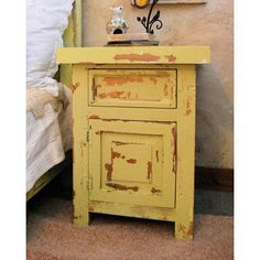 Distressed Wood Back Country One Drawer Night Stand with Door [BCN-1-D] : MyBarnwoodFrames.com | Barnwood Frames, Rustic Picture Frames, Rustic Mirrors & Home Decor