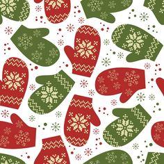 ~ Christmas Background Phone Cover Art ...Варежки