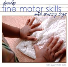 Fine Motor Skill Development: Simple Sensory Bags by Rachel at Kids Activities Blog