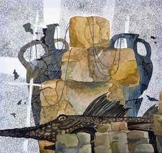 Eternal Guardian original contemporary artwork abstract art modern painting by Yelena Dyumin yelenaartstudio Original Art, Original Paintings, Popular Art, Still Life Art, Contemporary Artwork, Cool Artwork, Framed Artwork, Paintings For Sale, Online Art Gallery