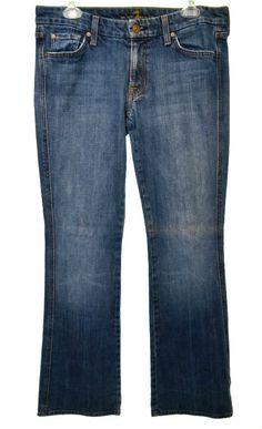 7 SEVEN FOR ALL MAN KIND Womens 31 10 Medium Wash Stretch Bootcut Denim Jeans  #7ForAllMankind #BootCut