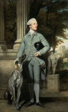 Richard Peers Symons (and faithful hound), 1771, by Sir Joshua Reynolds