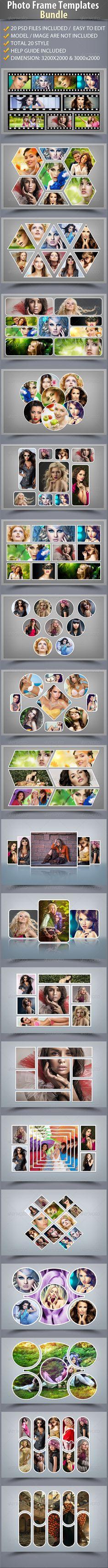 Photo Frame Photoshop Templates Bundle #design Download: http://graphicriver.net/item/photo-frame-templates-bundle/7230367?ref=ksioks