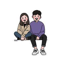 ideas anime art coupel easy for 2019 Cute Couple Drawings, Cute Couple Art, Cute Drawings, Cute Couples, Couple Illustration, Character Illustration, Illustration Art, Cartoon Art Styles, Cartoon Drawings