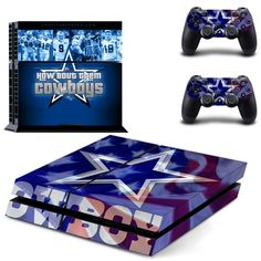 DALLAS COWBOYS SKIN FOR PS4, STICKERS 4 DUALSHOCK CONTROLLER - FREE SHIPPING!